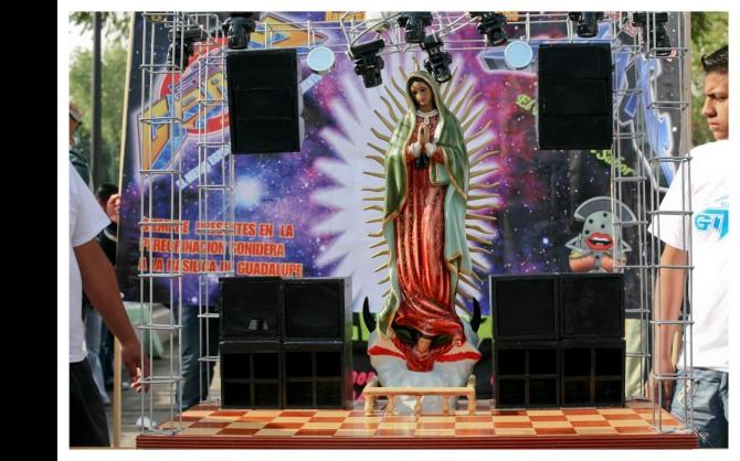 La Virgen de Guadalupe de Sonido Gitana. Foto de Mark Powell