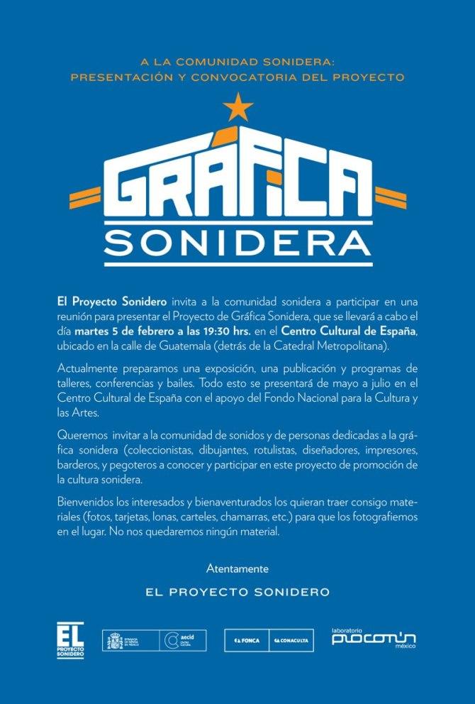 ¡¡¡CONVOCATORIA PARA LA COMUNIDAD SONIDERA!!!
